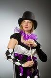 Woman magician doing her tricks Royalty Free Stock Photos