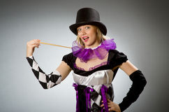Woman magician doing her tricks Stock Images