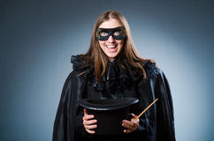The woman magician in funny concept Royalty Free Stock Image