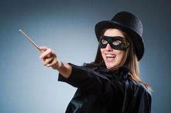 Woman magician in funny concept Stock Photography