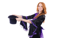 Woman magician Royalty Free Stock Images