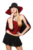 Woman magician isolated Royalty Free Stock Photography