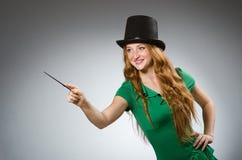 Woman magician wearing Stock Photos