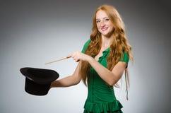Woman magician wearing Stock Image
