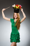 Woman magician wearing Stock Images