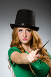 Woman magician wearing Royalty Free Stock Images