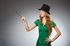 Woman magician wearing Stock Photo
