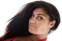 Woman with magnificent hair Stock Photo