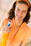 Woman maid cleaner spray Royalty Free Stock Photo