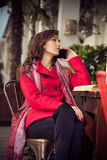 Woman make a call Royalty Free Stock Photography