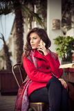 Woman make a call Royalty Free Stock Images