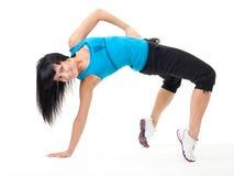 Woman make flexibility exercise Stock Photo