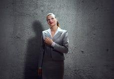 Woman make oath Stock Photo