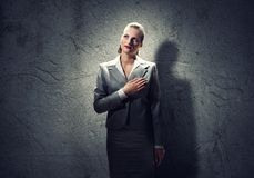 Woman make oath Royalty Free Stock Images