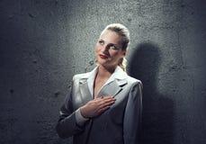 Woman make oath Stock Photos