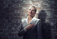 Woman make oath Royalty Free Stock Image