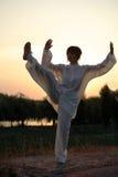 Woman make's taiji chuan exercise