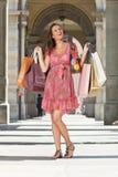 Woman make shopping Stock Photography