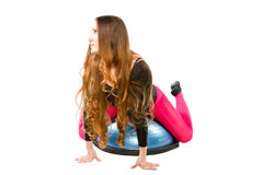 Woman make stretch on yoga pose Stock Images