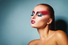 Woman with make-up Royalty Free Stock Images