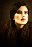 Woman with make up Stock Images