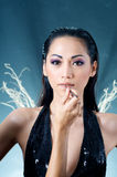 Woman Make-up Stock Images