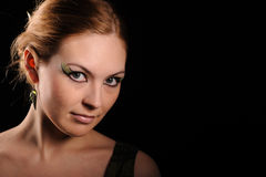 Woman with make up Stock Photo