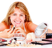 Woman with make up Royalty Free Stock Image