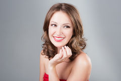 Woman with make-up Royalty Free Stock Photo