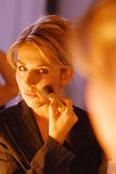 Woman during the make-up Royalty Free Stock Photo
