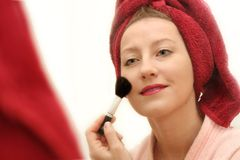 Woman Make Up Royalty Free Stock Image