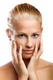 Woman without make up Stock Images