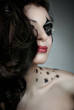 Woman with make-up and body-art styled Royalty Free Stock Photos