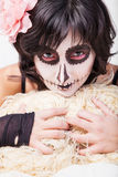 Woman with make-up for Halloween Royalty Free Stock Images