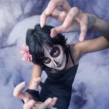 Woman with make-up zombies Stock Image