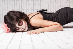 Woman with make-up zombies Stock Photography