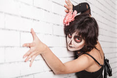 Woman with make-up zombies Royalty Free Stock Photo