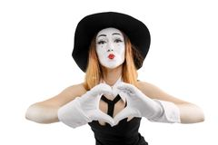 Woman makes a heart royalty free stock photo