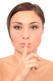Woman makes a kissing motion Stock Photography