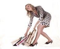 Woman makes shopping Stock Photos