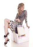 Woman makes shopping Stock Image