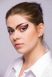 Woman with makeup. Woman with cretive make-up Royalty Free Stock Photos