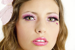 Woman with makeup. Portrait of young woman with makeup Stock Image