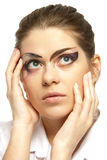 Woman with makeup Royalty Free Stock Images