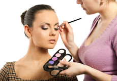 Woman with makeup Stock Photo