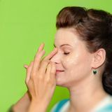 Woman with makeup Stock Photography