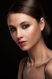 Woman with makeup royalty free stock photography