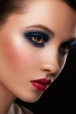 Woman with makeup. Portrait of attractive young woman with bright creative makeup Stock Photos