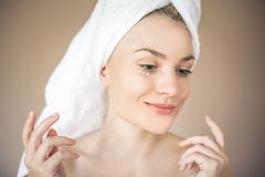 Profile of young beauty woman. royalty free stock photography