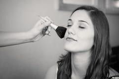 Woman makeup black and white Stock Image